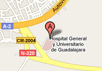 Mapa Hospital Universitario de Guadalajara
